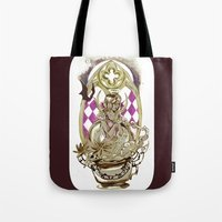 tarot Tote Bags featuring Moon Tarot by A Hymn To Humanity