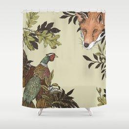 Fox & Pheasant Shower Curtain