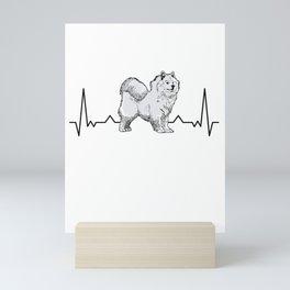 Samoyed heartbeat sled dog Samoeds Mini Art Print