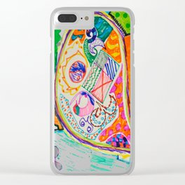 Pop Up Art Clear iPhone Case