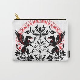 Mythical creature Griffin silhouette graphic art Carry-All Pouch