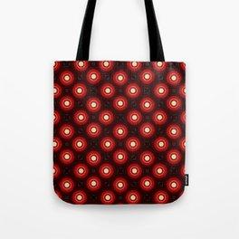 Red Wine Mandala Pattern Print Tote Bag