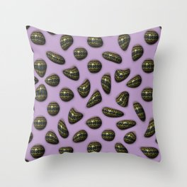 Eclat - Decorated gemstones E of Alphabet collection Throw Pillow