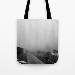 London Fog in Regents Canal III  by Diana Eastman Tote Bag
