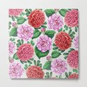 Camellia and Peonia pattern by catyarte
