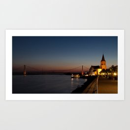 River Rhine Emmerich Germany Art Print