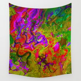 Rainbow Snakes Wall Tapestry