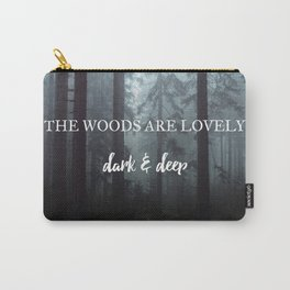 Dark Wood Carry-All Pouch