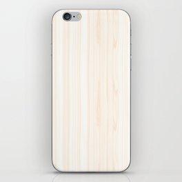 Light Wood Texture iPhone Skin