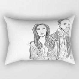 elementary: holmes and watson (sketch) Rectangular Pillow