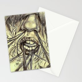 hair locked face. Stationery Cards