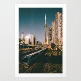 Toronto Tracks Art Print