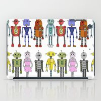 robots iPad Cases featuring Robots by Annabelle Scott