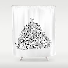 Pupper Pile Shower Curtain