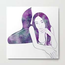 Amythest Mermaid Metal Print