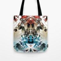 transformer Tote Bags featuring Vacío by Andre Villanueva