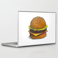 burger Laptop & iPad Skins featuring Burger by RedNoseBlueCheeks
