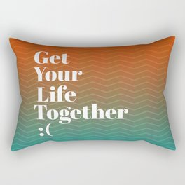 Get Your Life Together Rectangular Pillow