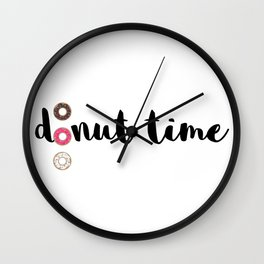 It's donut time Wall Clock