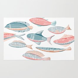 Funny fishes Rug