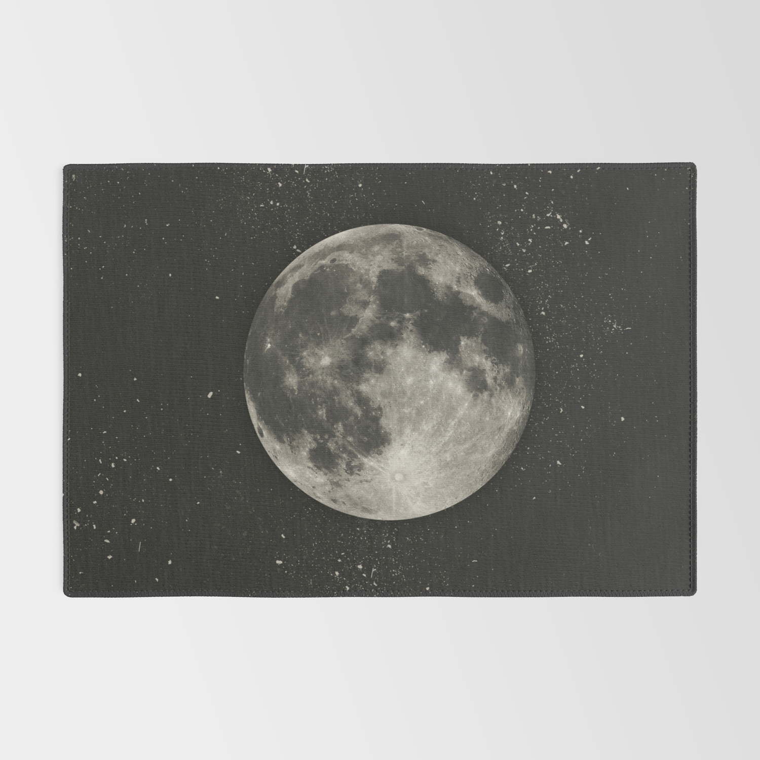 The Moon [Sans Type] Rug by Heather Landis   Society21