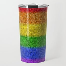 Rainbow Glitter Gradient Travel Mug