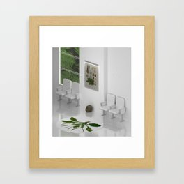 Interior #15 / Waiting Room for a Botanical Garden Framed Art Print