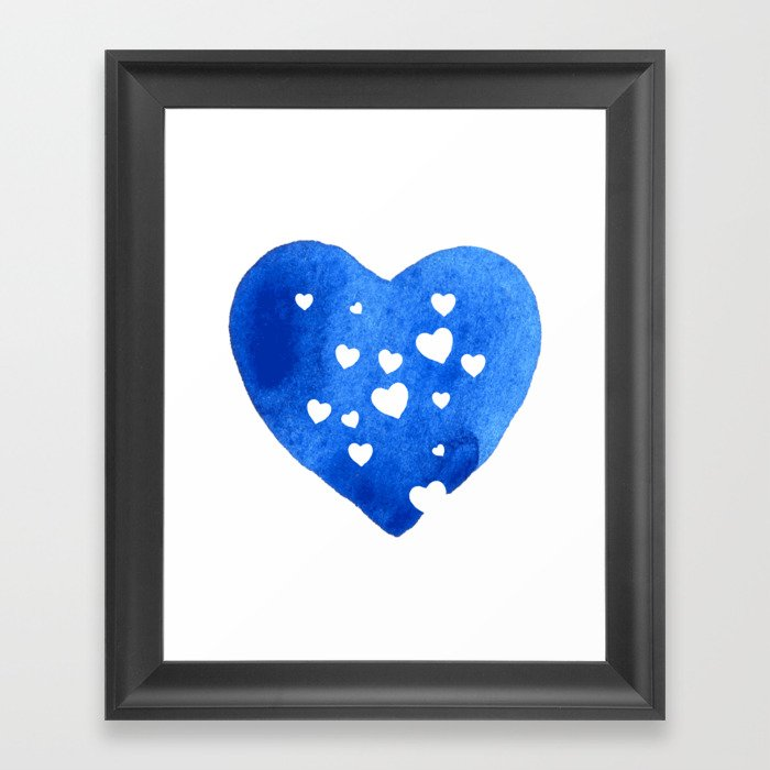 Blue Hearts Framed Art Print