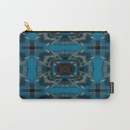 Tic Tac Toe Blue Carry-All Pouch