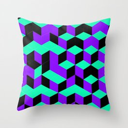 Isometric Steps Throw Pillow