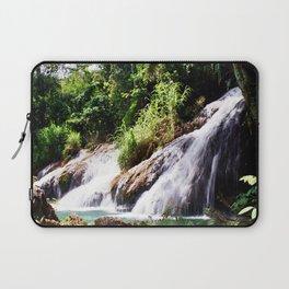 Jungle waterfall Laptop Sleeve