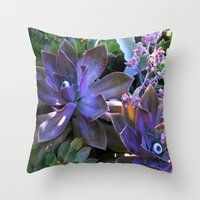 secret life Throw Pillows featuring The Secret Life of Plants by Slow Toast