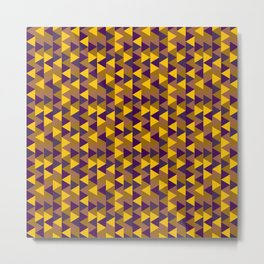 Funky Triangles Metal Print