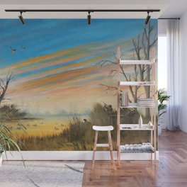 Evening Duck Hunters Wall Mural