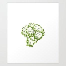 Fueled By Broccoli Vegan Vegetarian Vegetable Art Print
