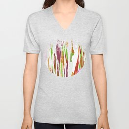 Abstract Rainbow Splash Design Unisex V-Neck