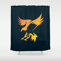 phoenix Shower Curtains featuring Phoenix by Dale J Cheetham