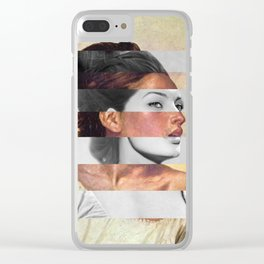 Delacroix's Orphan Girl at the Cemetery & Sophia Loren Clear iPhone Case