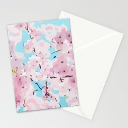 Cute pink flowers - Cherry Blossom Stationery Cards
