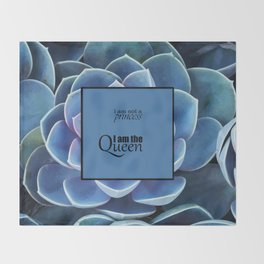 Princess and Queen succulents Throw Blanket