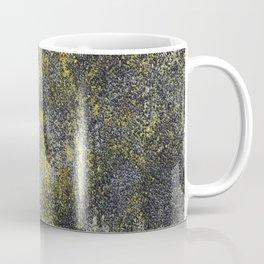 Black and White Ink on Yellow Background Coffee Mug