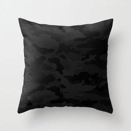 Midnight Camo Throw Pillow