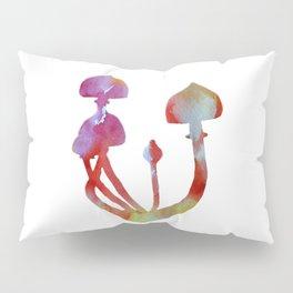 Mushrooms Watercolor Magic Pillow Sham
