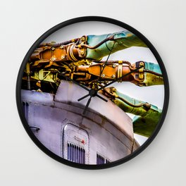 Rotor Blades Of A Modern Transport Helicopter. Aviation Art Wall Clock