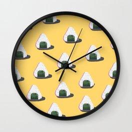 onigiri pixel art Wall Clock