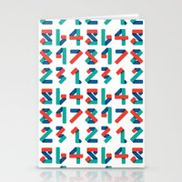 number Stationery Cards featuring Number by Steven Toang