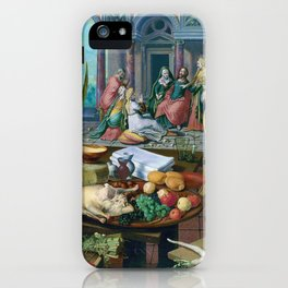 Christ in the House of Martha and Mary by Pieter Aertsen (1553) iPhone Case