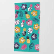 FOREVER SUMMER on MINT Beach Towel