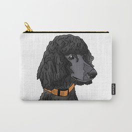 Misza the Black Standard Poodle Carry-All Pouch