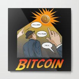 Its Bitcoin - Nice Retro Design - Vintage Style Metal Print